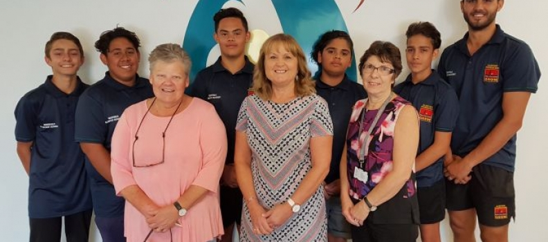 VISIT FROM ROBINVALE CLONTARF ACADEMY STUDENTS TO RDHS