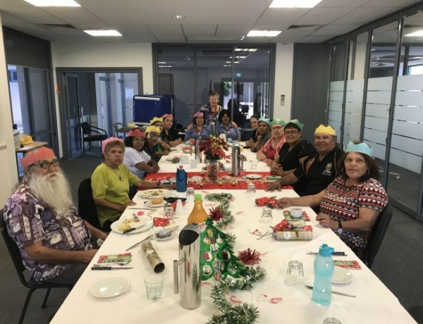 Christmas Lunch Celebrated with Local Aboriginal Elders