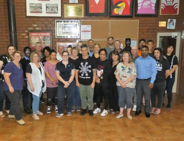 Joe Williams The Enemy Within – Suicide Prevention & Mental Health Wellbeing Education visits Robinvale