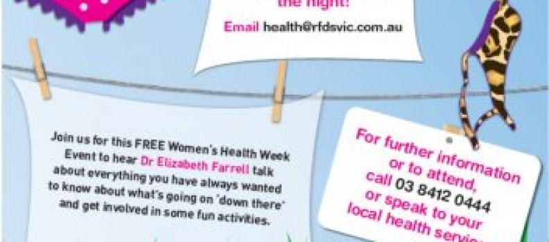 Womens Health Week (Monday 4th September – Friday 8th September)