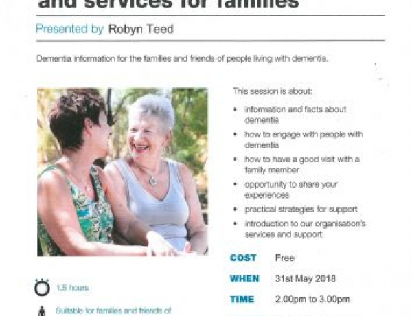 Introduction to Dementia and Services for Families
