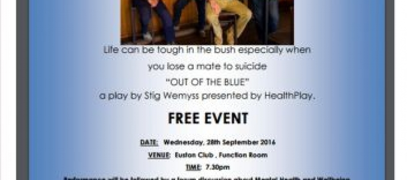 OUT OF THE BLUE – A Play by Stig Wemyss