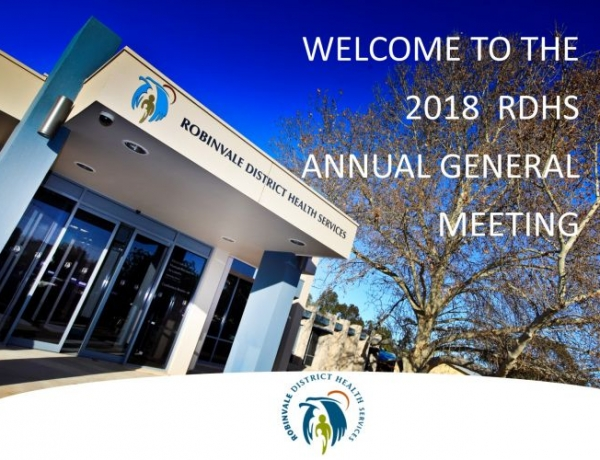 RDHS Annual General Meeting held Monday 22nd October 2018