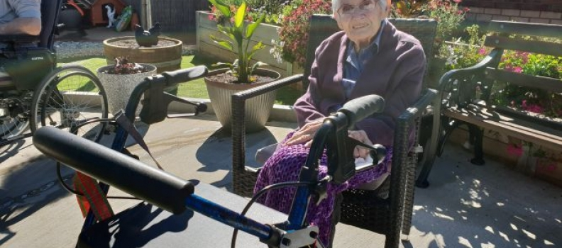 Residents enjoy the great weather outdoors
