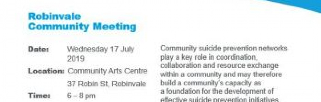 Robinvale Community Meeting – Wesley LifeForce Suicide Prevention Networks